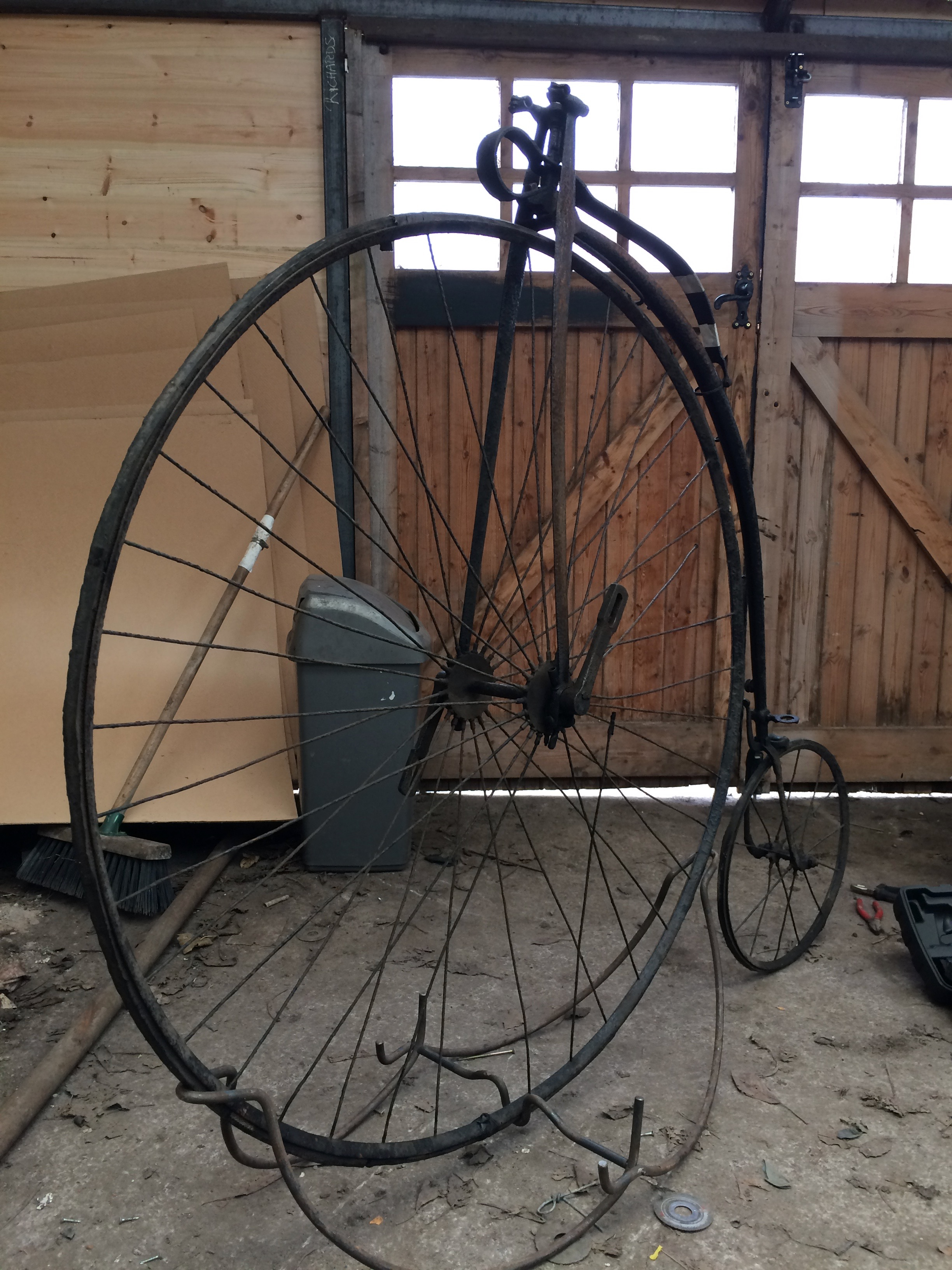 Antique Bicycle Restoration Penny Farthing Ordinary
